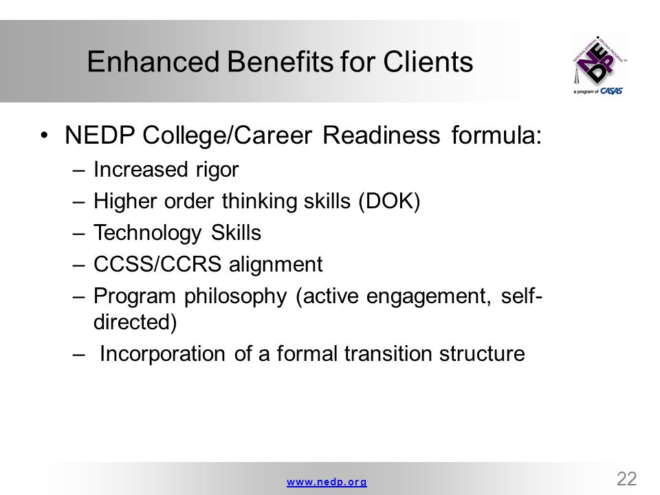 Enhanced Benefits for Clients