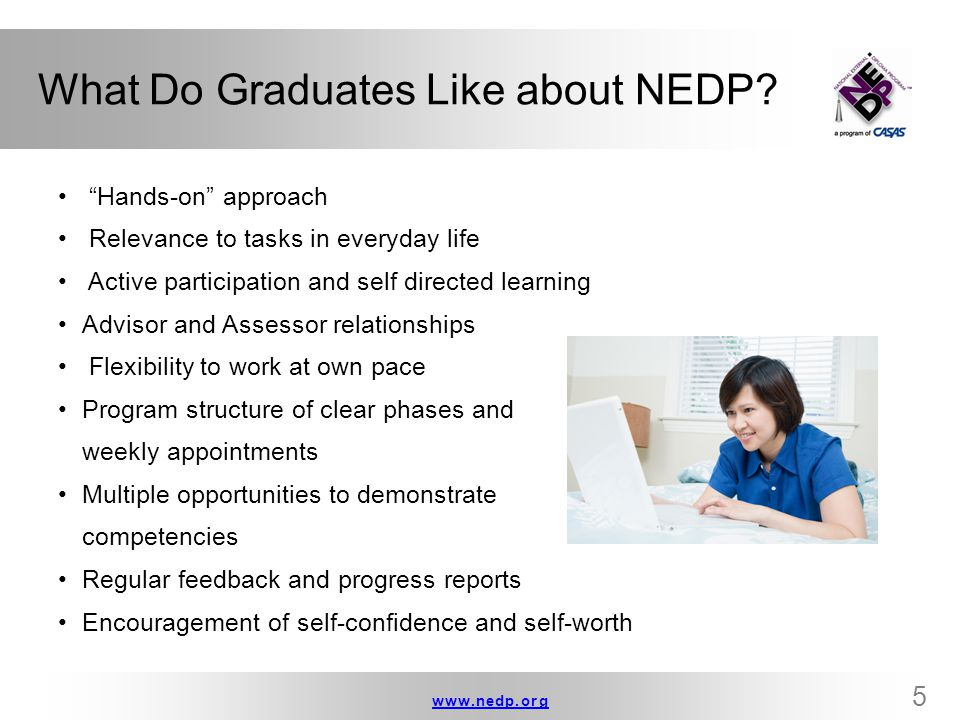 What Do Graduates Like about NEDP
