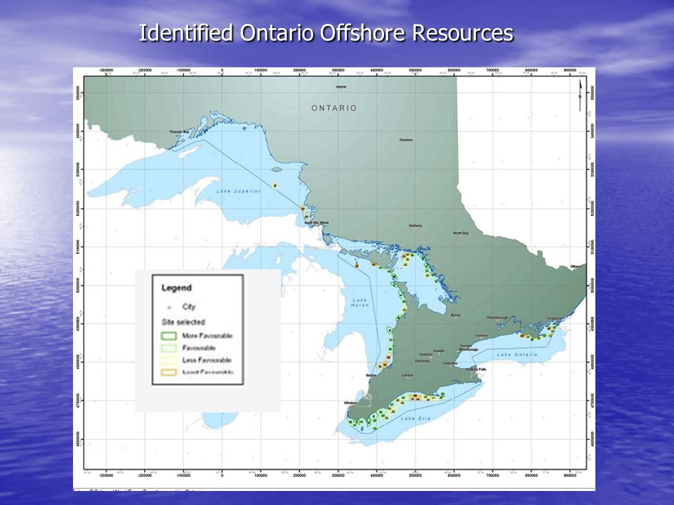 Identified Ontario Offshore Resources