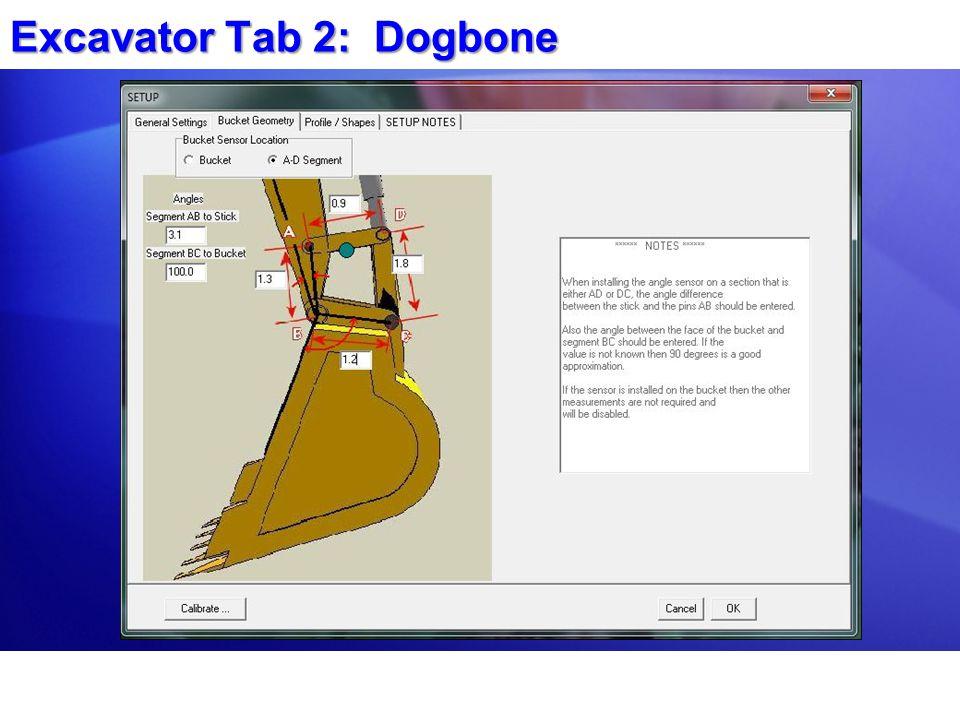 Excavator Tab 2: Dogbone