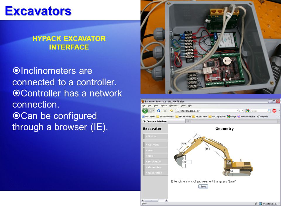 HYPACK EXCAVATOR INTERFACE