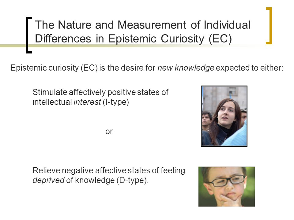 The Nature and Measurement of Individual Differences in Epistemic Curiosity (EC)