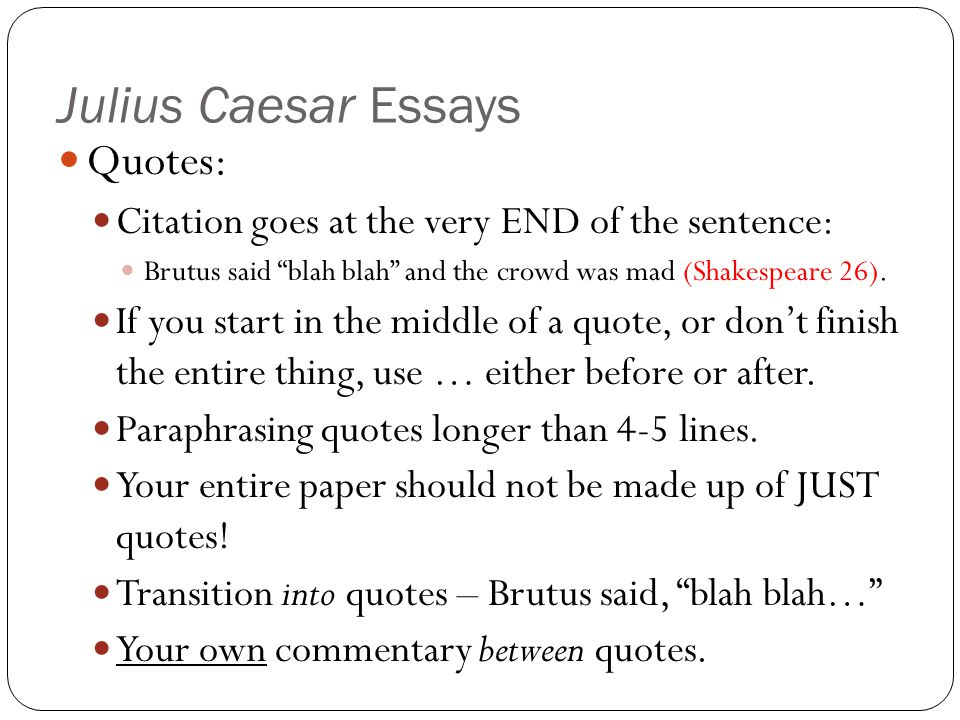 julius caesar summary essay Julius caesar theme essay home / english notes / drama / julius caesar theme essay read this article to know about the themes in julius caesar by william shakespeare.