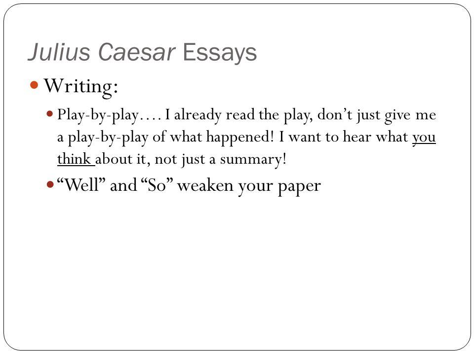 Essay julius caesar brutus