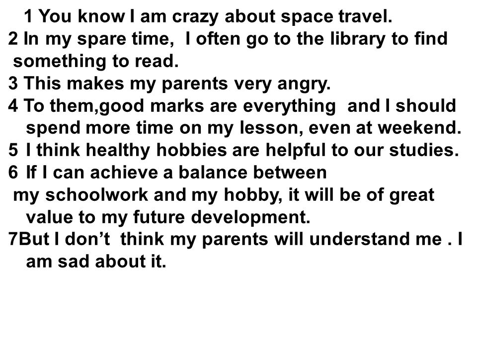 1 You know I am crazy about space travel.