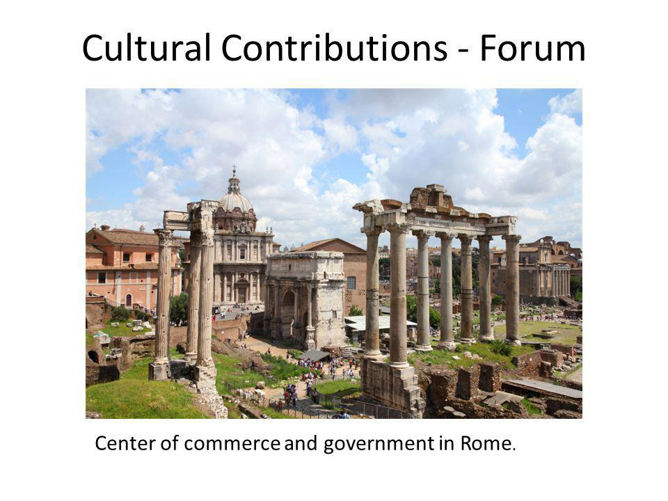 Cultural Contributions - Forum