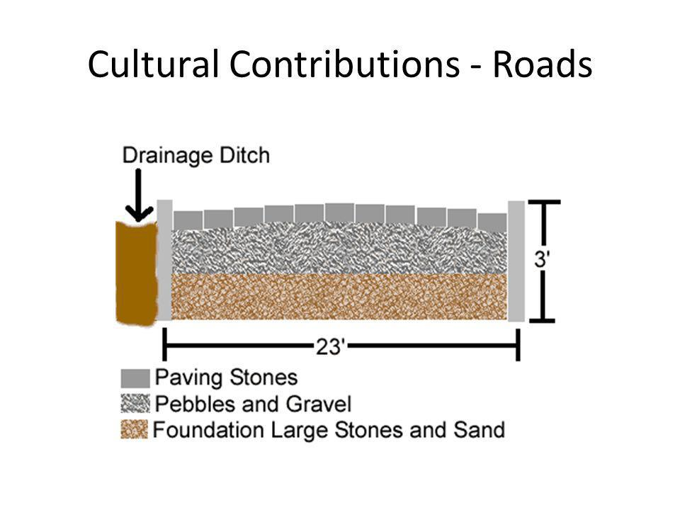 Cultural Contributions - Roads