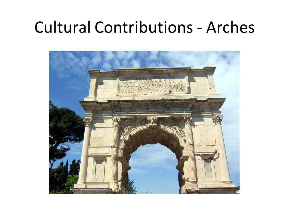 Cultural Contributions - Arches