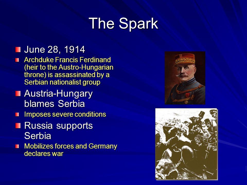 The Spark June 28, 1914 Austria-Hungary blames Serbia