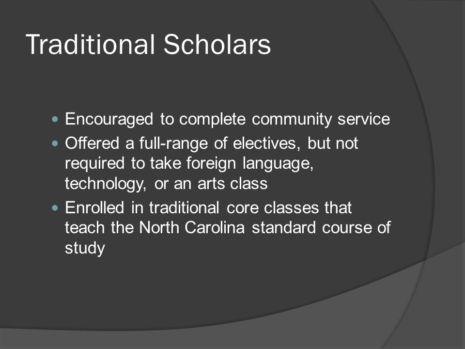 Traditional Scholars Encouraged to complete community service