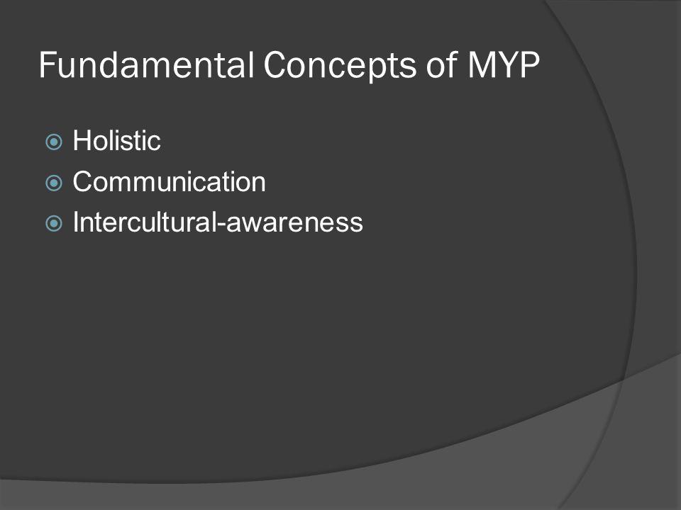 Fundamental Concepts of MYP