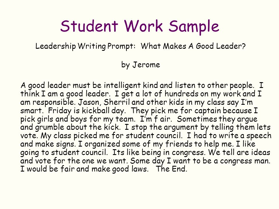 Leadership Writing Prompt: What Makes A Good Leader