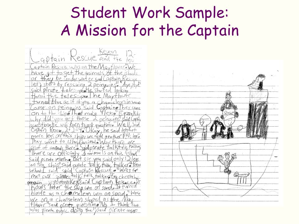 Student Work Sample: A Mission for the Captain