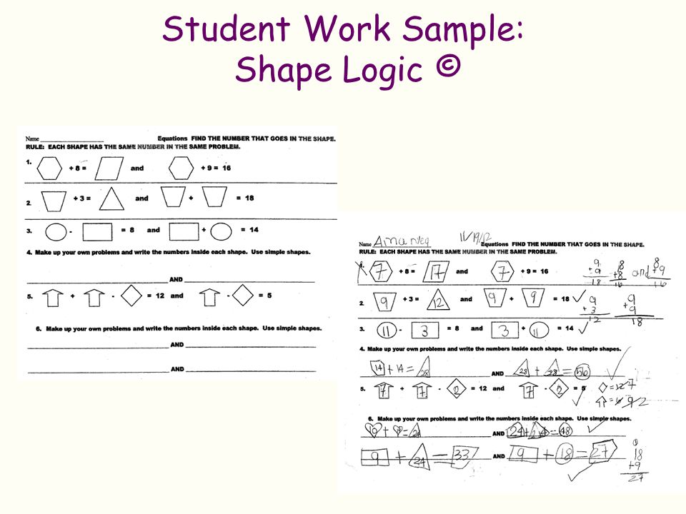Student Work Sample: Shape Logic ©