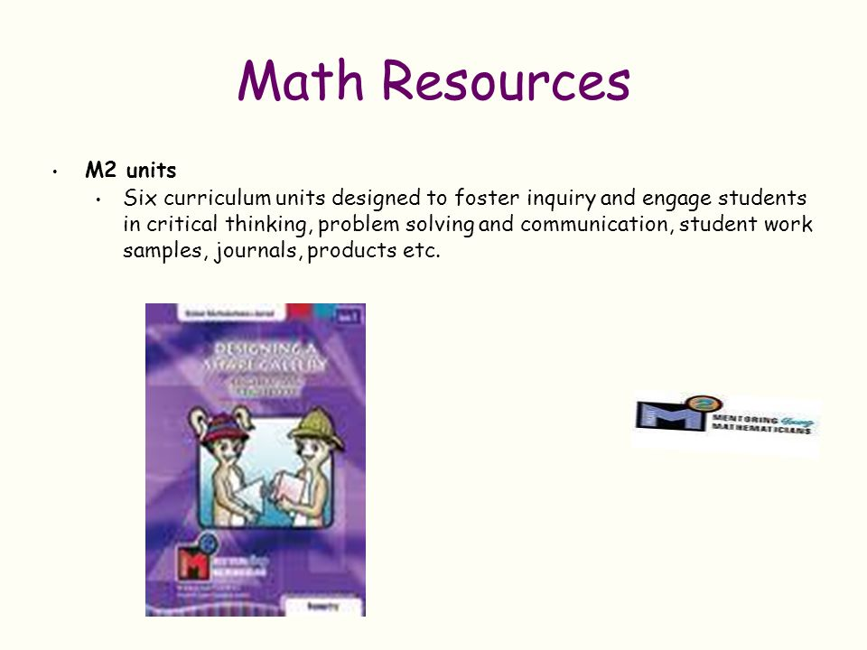 Math Resources M2 units.