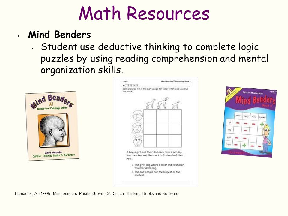 Math Resources Mind Benders