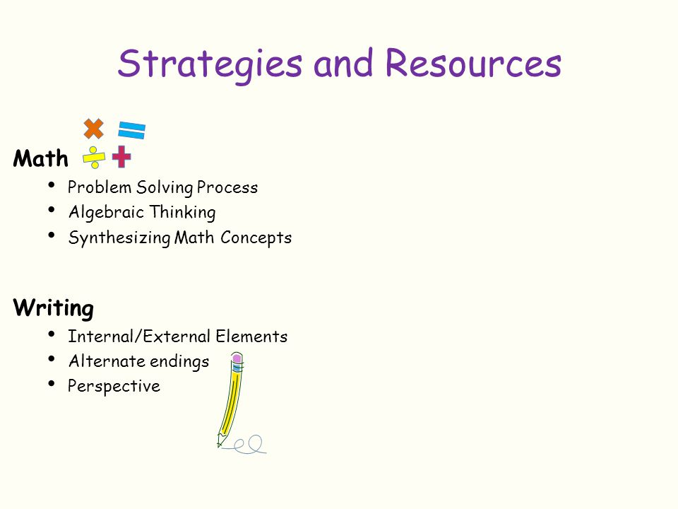 Strategies and Resources