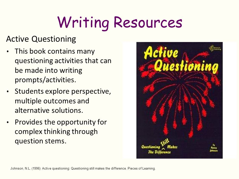 Writing Resources Active Questioning