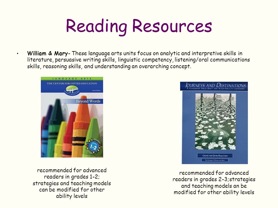 Reading Resources Analytical Thinking