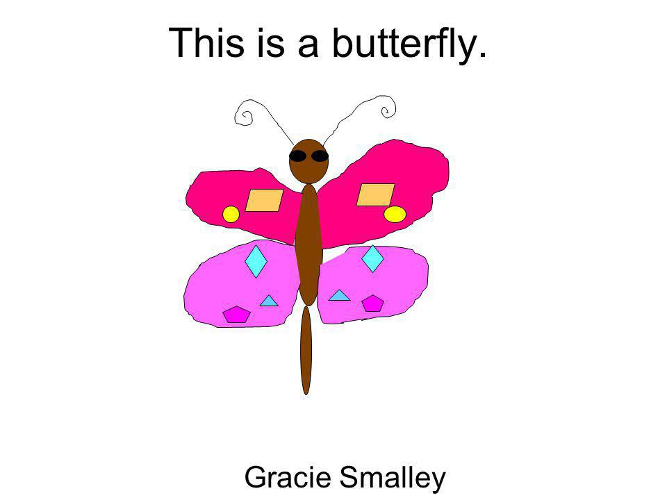 This is a butterfly. Gracie Smalley