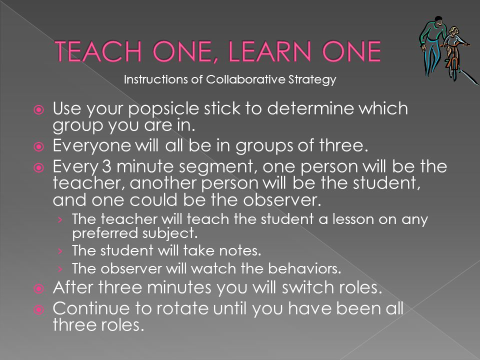 Instructions of Collaborative Strategy