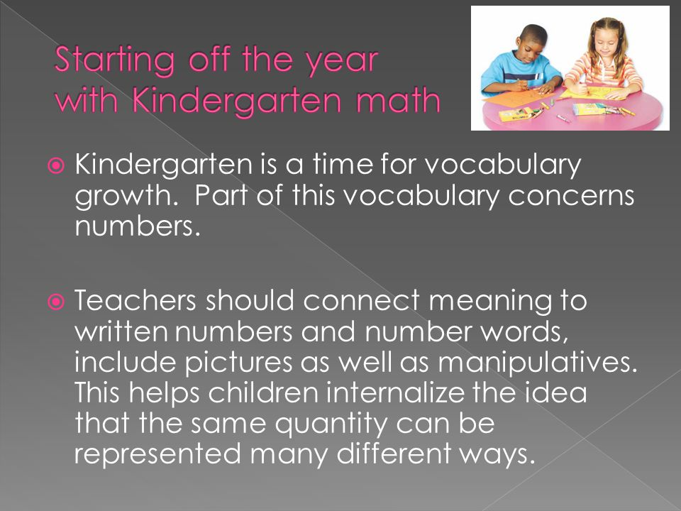 Starting off the year with Kindergarten math