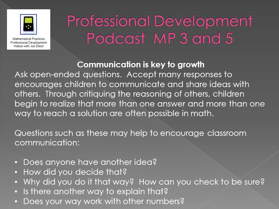 Professional Development Podcast MP 3 and 5