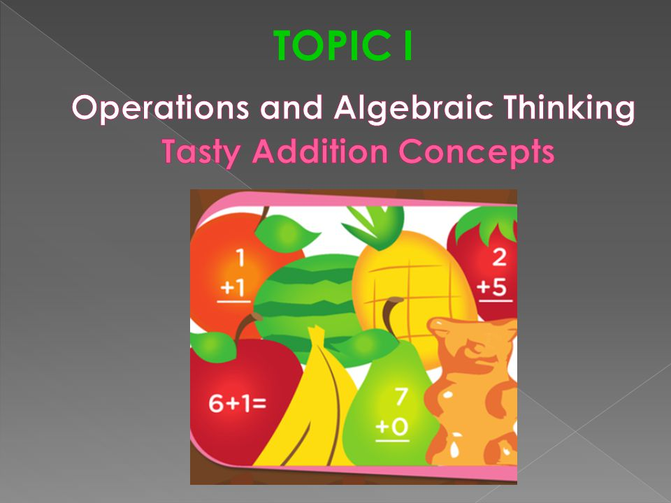 Operations and Algebraic Thinking Tasty Addition Concepts