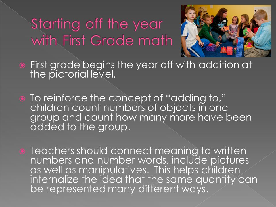 Starting off the year with First Grade math