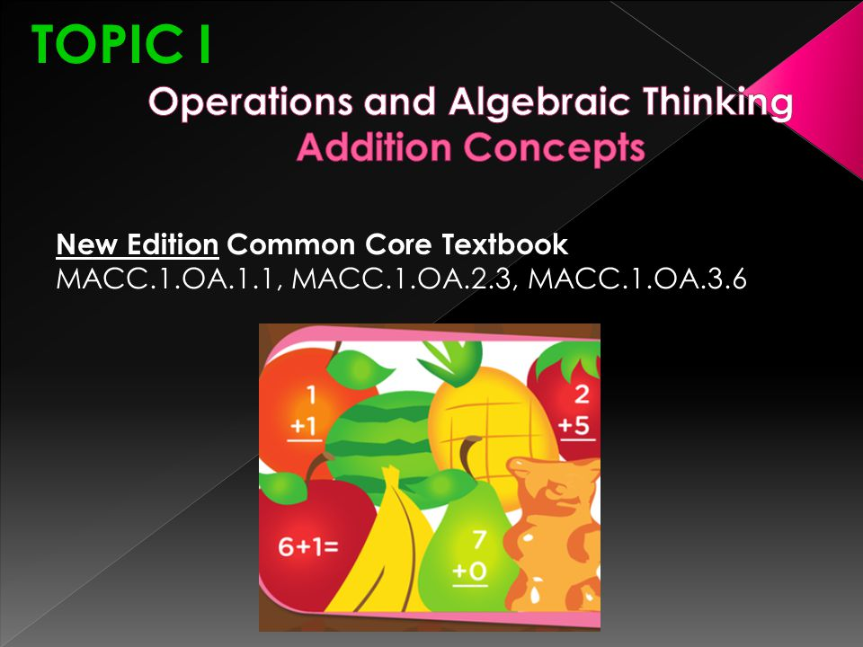 Operations and Algebraic Thinking Addition Concepts