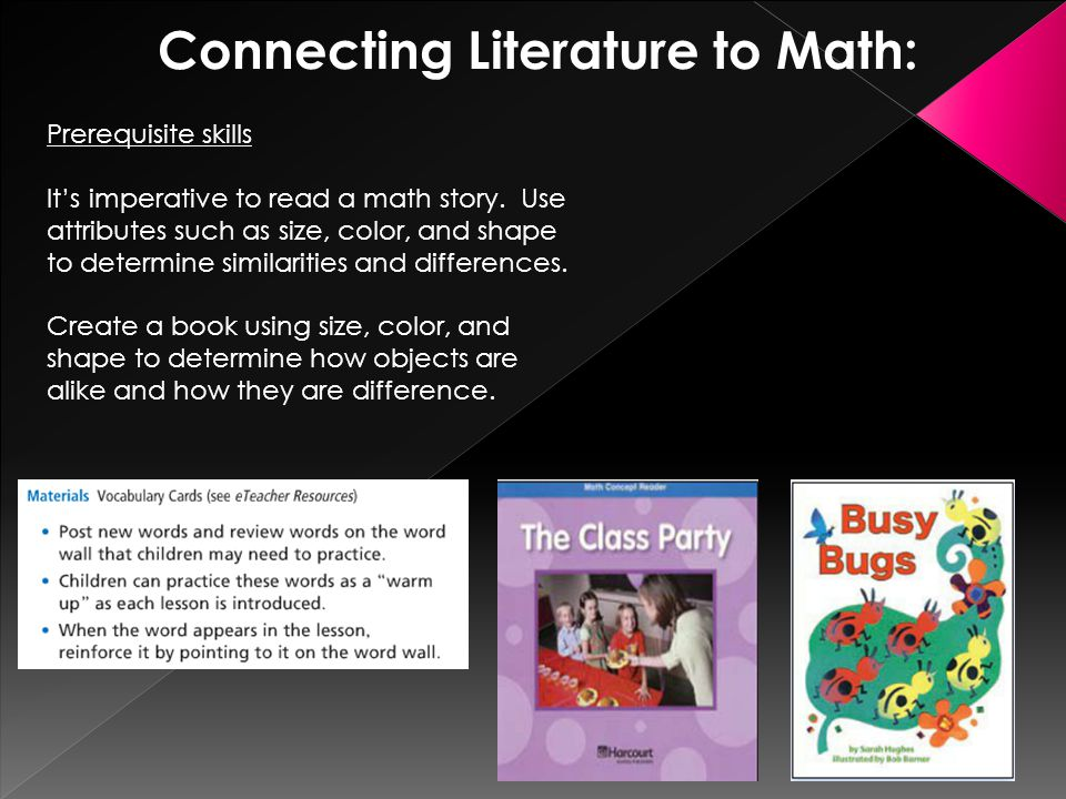 Connecting Literature to Math: