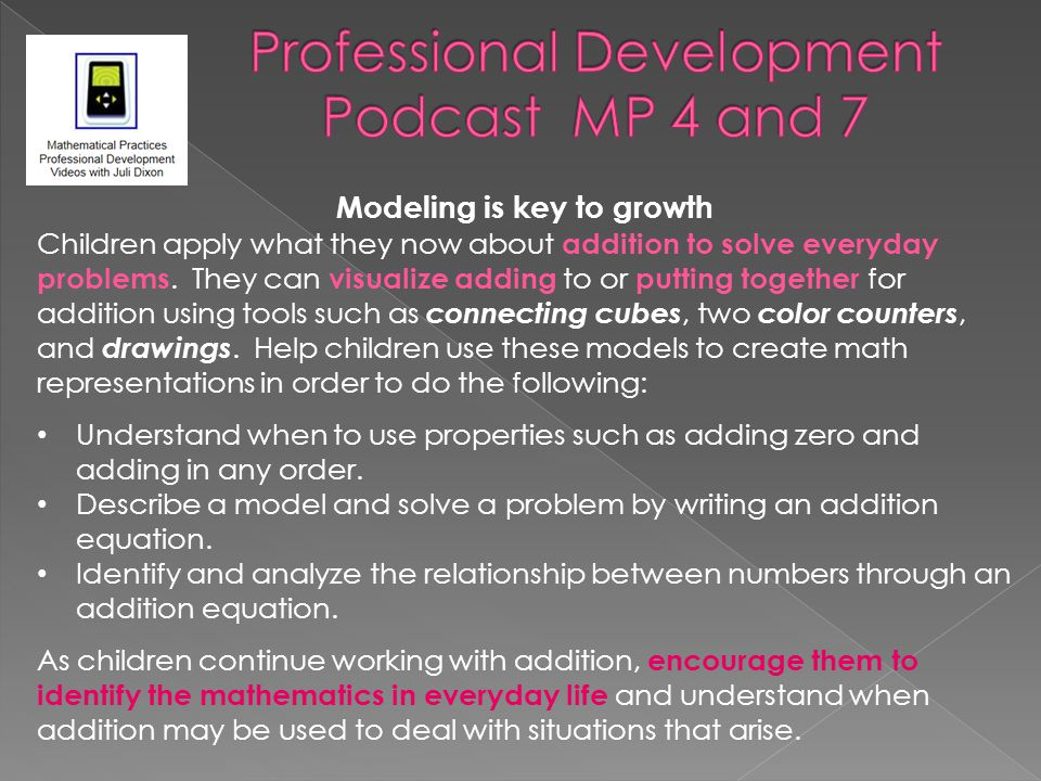 Professional Development Podcast MP 4 and 7