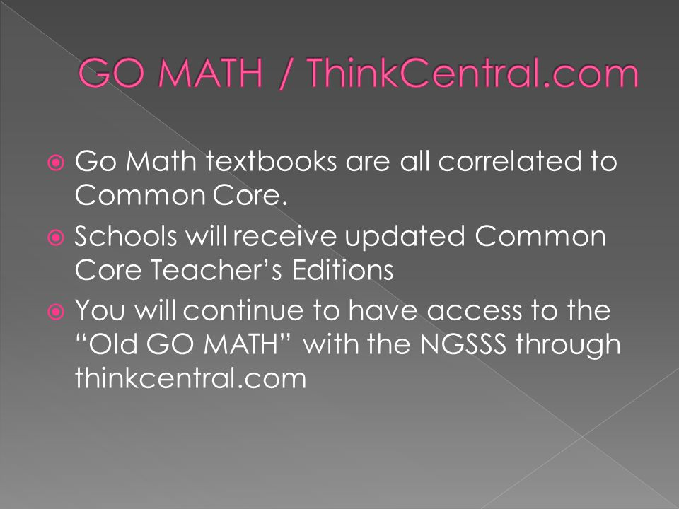 GO MATH / ThinkCentral.com