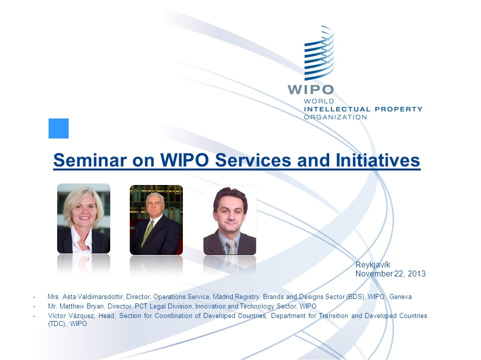 Seminar on WIPO Services and Initiatives