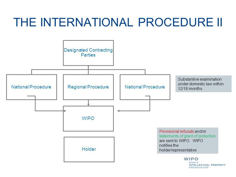THE INTERNATIONAL PROCEDURE II