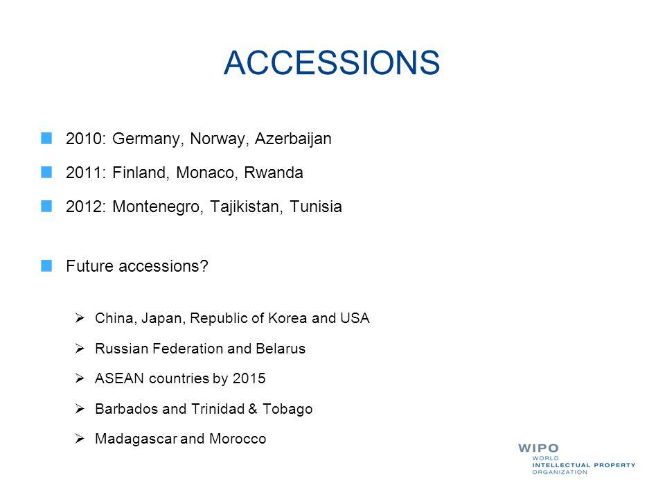 ACCESSIONS 2010: Germany, Norway, Azerbaijan