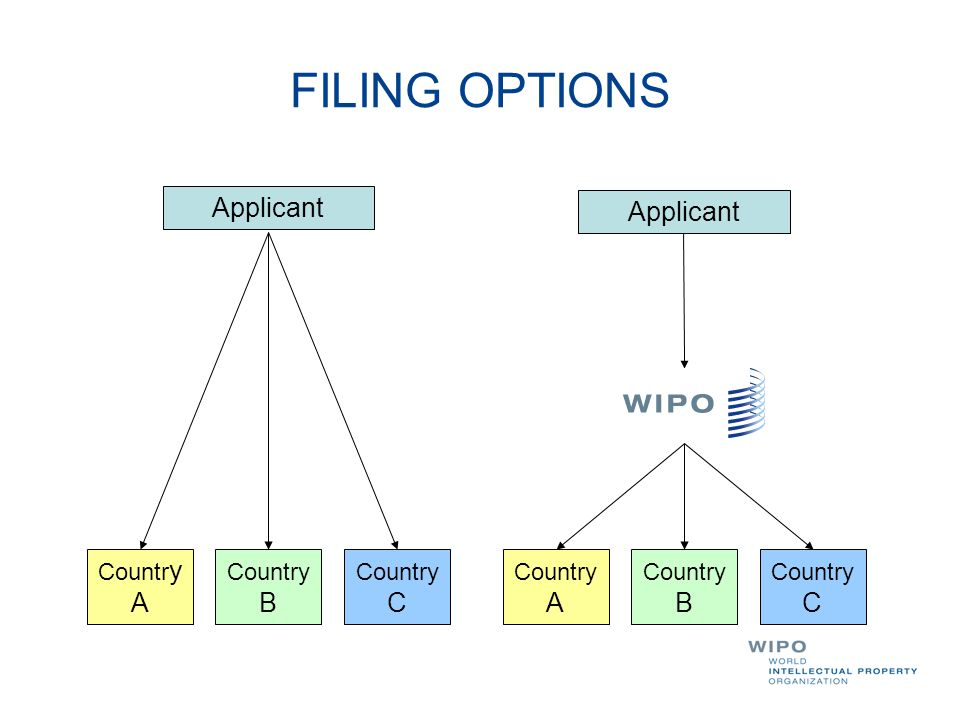 FILING OPTIONS Applicant Applicant Country A Country B Country C