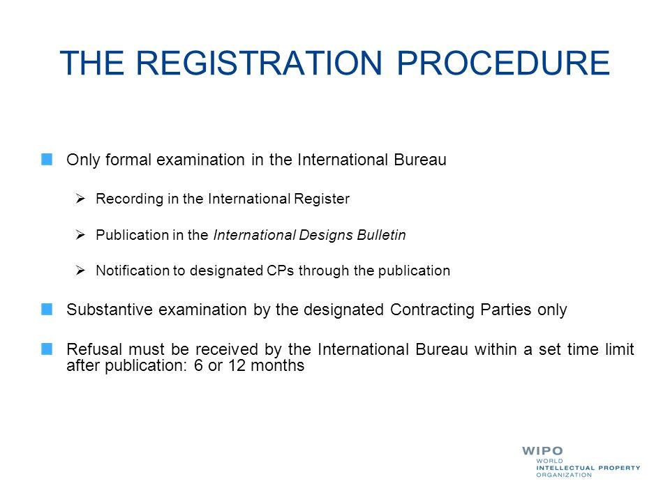 THE REGISTRATION PROCEDURE
