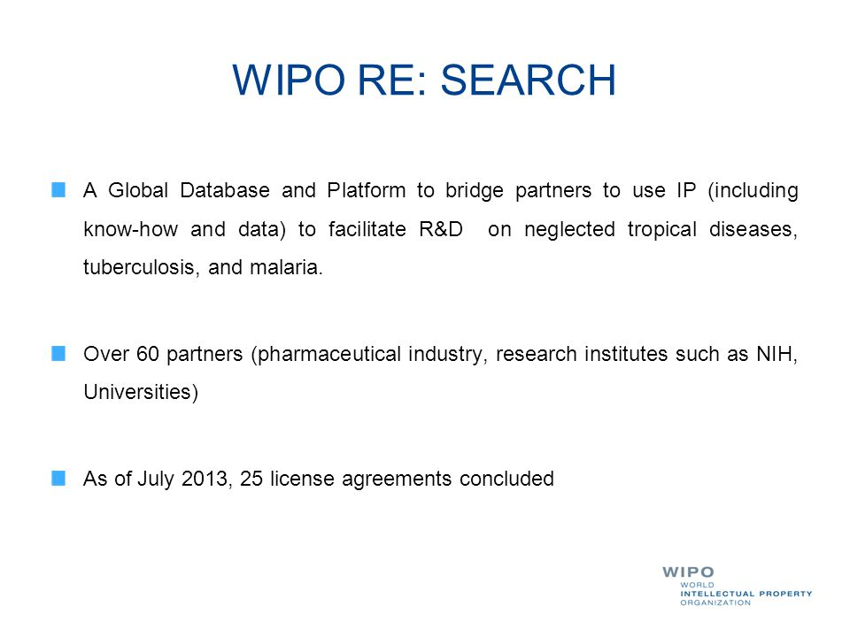 WIPO RE: SEARCH