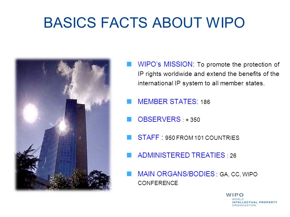 BASICS FACTS ABOUT WIPO