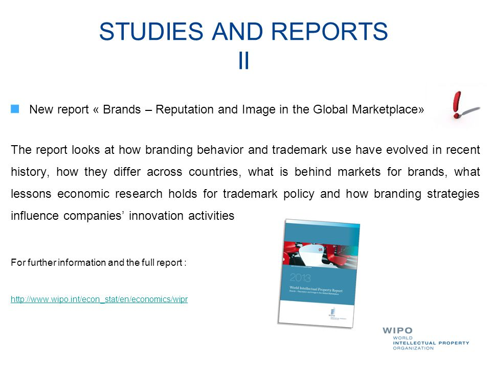 STUDIES AND REPORTS II New report « Brands – Reputation and Image in the Global Marketplace»
