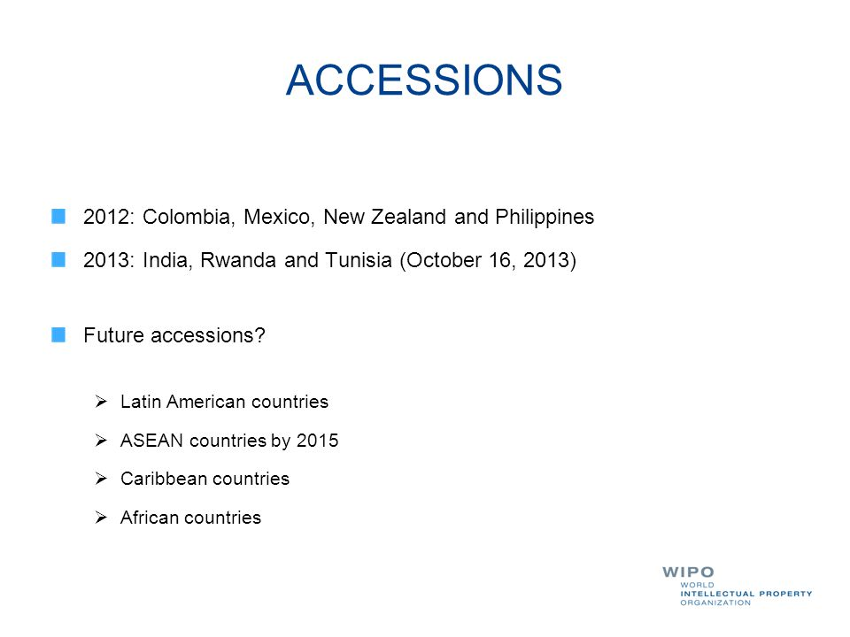 ACCESSIONS 2012: Colombia, Mexico, New Zealand and Philippines