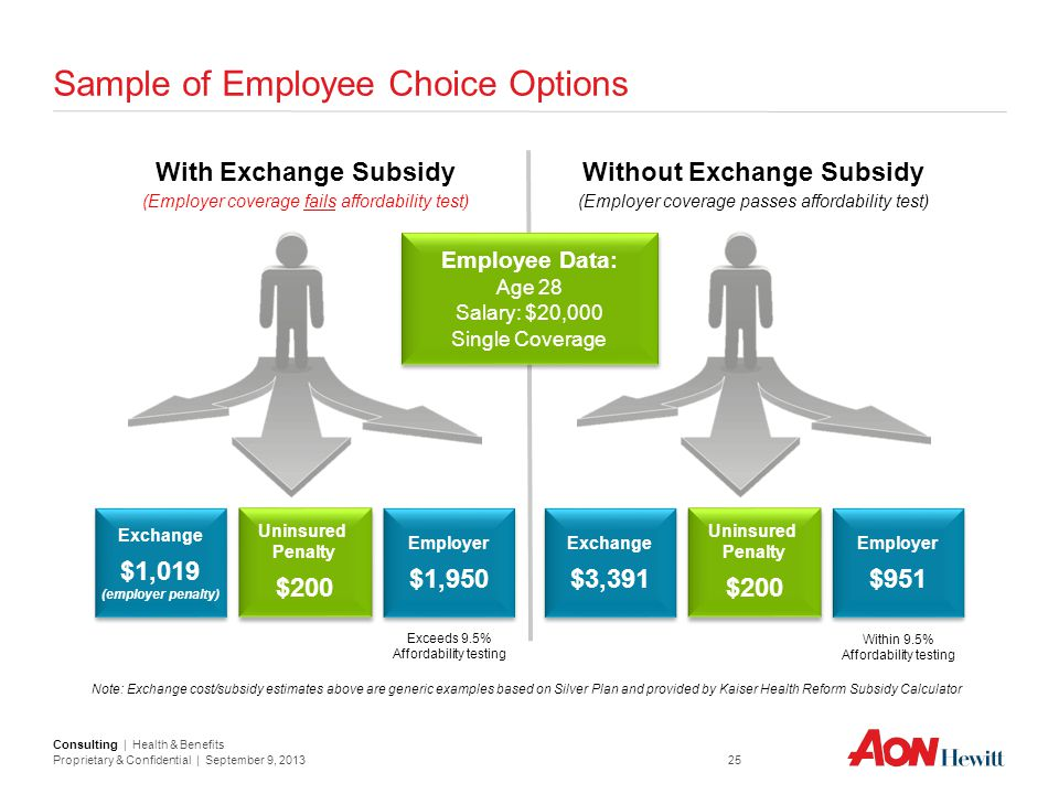 Sample of Employee Choice Options