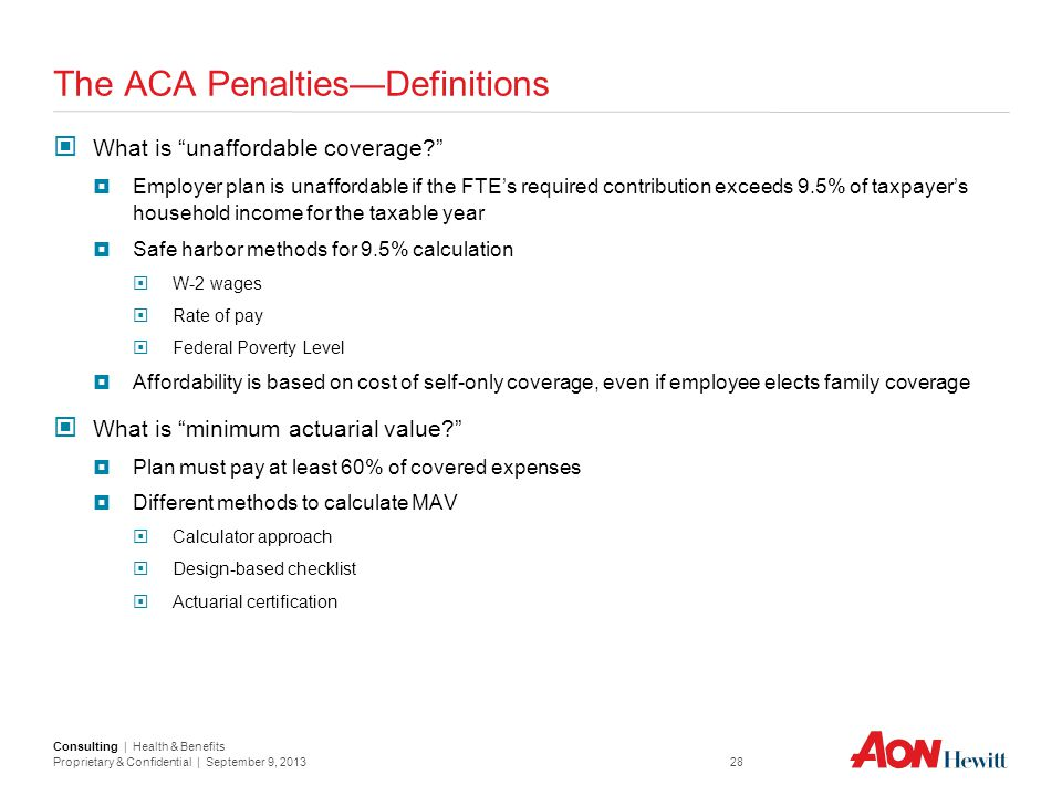 The ACA Penalties—Definitions