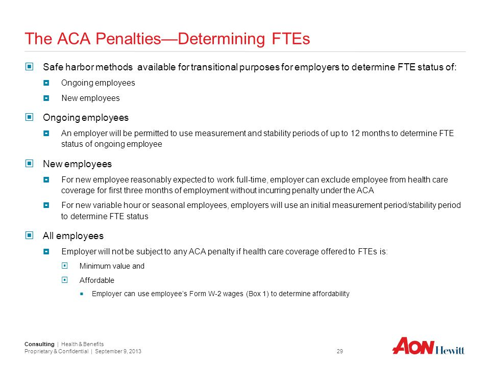 The ACA Penalties—Determining FTEs
