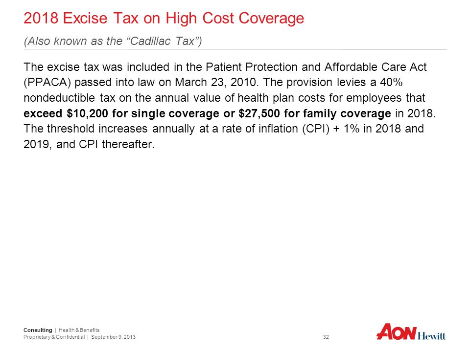 2018 Excise Tax on High Cost Coverage