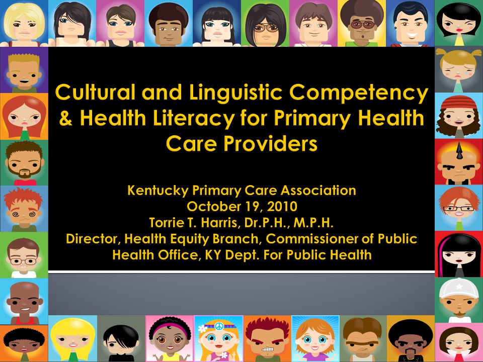 Cultural and Linguistic Competency & Health Literacy for Primary Health Care Providers Kentucky Primary Care Association October 19, 2010 Torrie T.