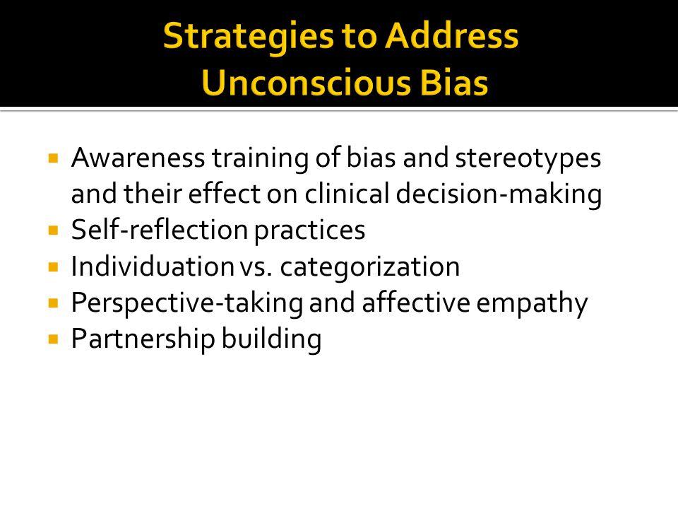 Strategies to Address Unconscious Bias
