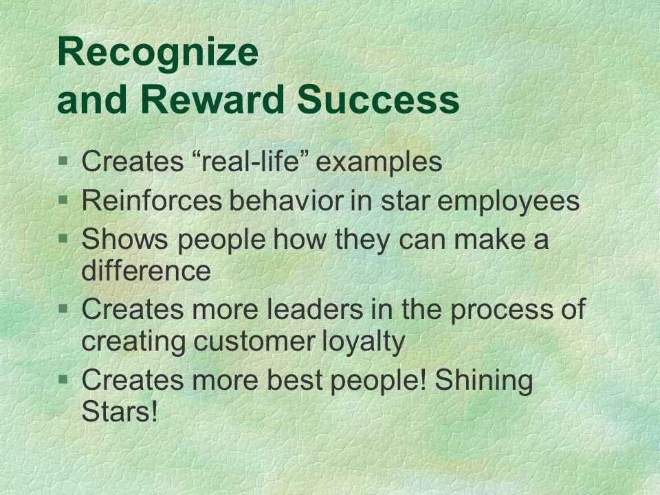 Recognize and Reward Success