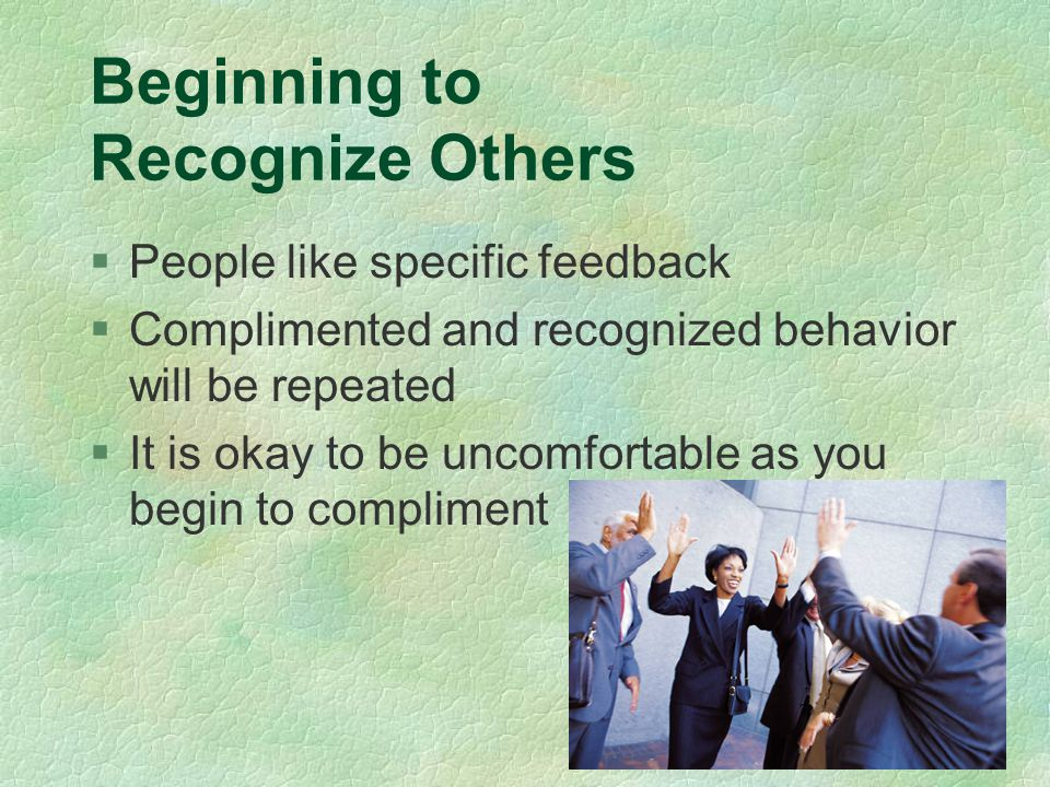 Beginning to Recognize Others